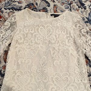 NWT French Connection white lace dress